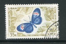 LIBAN- Poste Aérienne Y&T N°333- Oblitéré (papillons) - Liban
