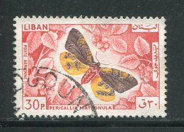LIBAN- Poste Aérienne Y&T N°332- Oblitéré (papillons) - Liban