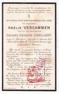 DP Amélie Vercammen ° Berlaar 1831 † Antwerpen 1906 X Edouard Th. Schollaert / Begr. Deurne - Devotieprenten