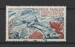 POLYNESIE .  YT  PA N° 34  Obl 1965 - Poste Aérienne