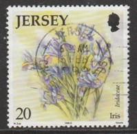 Jersey 1998 Flowers 20 P Multicoloured SW 853 O Used - Jersey