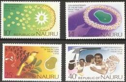 Nauru 1976 Home Coming To Nauru From Truk For Naury Population - 4 Values MNH Bird Map - Nauru
