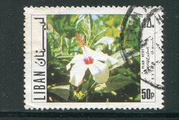 LIBAN- Poste Aérienne Y&T N°536- Oblitéré (fleurs) - Liban