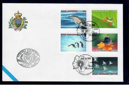 SAN MARINO 1996 - MONDO NATURA - ANIMALI - FDC - FDC