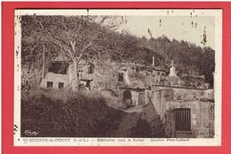 SAINT ETIENNE DE CHIGNY 1942 HABITATION DANS LE ROCHER QUARTIER PORT CAILLARD CARTE EN BON ETAT - Other Municipalities