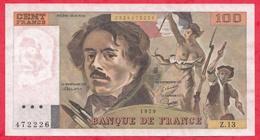 """100 Francs """"Delacroix"""" 1979 ------VF/SUP---Série Z.13 - 100 F 1978-1995 ''Delacroix''"""