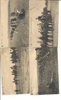 Lot 4 Cartes Armée Belge Guerre 1914/1918 - Weltkrieg 1914-18