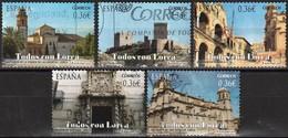 Spain 2012 - Architecture In Lorca ( Mi 4663/67 - YT 4368/72 ) Complete Issue - 1931-Aujourd'hui: II. République - ....Juan Carlos I