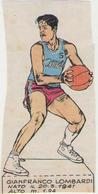 GIANFRANCO LOMBARDI....CANDY.....NAZIONALE...PALLACANESTRO..VOLLEY BALL - Trading Cards