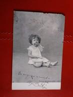 Bimba Che Mangia La Sua Cacca / Little Girl Eating Her Poop / Petite Fille Mange Sa Merde - 1904 Ed. Alterocca - Humor