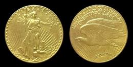 COPIE - 1 Pièce Plaquée OR Sous Capsule ! ( GOLD Plated Coin ) - 20 Dollars Saint Gaudens 1933 - L. Gold (Or)
