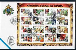 SAN MARINO 1999 - QUATTRO SECOLI DI OPERA - FOGLIETTO - FDC - FDC