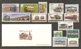 Trams - Tramways - Petit Lot De 14 Timbres° + 1 Gravure Officielle YT 3552 - Timbres