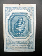Santino Beata Vergine Della Provvidenza Missano Dal Re Modena Primo '900 - Altre Collezioni