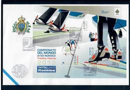 SAN MARINO 2013 - CAMPIONATI DEL MONDO DI SCI NORDICO - FOGLIETTO - FDC - FDC