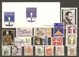 Droits De L'homme - Petit Lot De 19° - 1 Gravure Officielle (3555) - 3 Flammes -  Luther King -  Amnesty International - Timbres