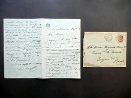 Autografo Enrico Caviglia Lettera Finalmarina 26/3/1926 D'Annunzio WW1 Caporetto - Autografi