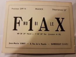 CARTE QSL RADIO AMATEUR FRANCE RAMBOUILLET 78 1963 - Radio Amateur