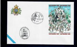SAN MARINO 1997 - CAMPIONATO DEL MONDO DI SCI ALPINO SESTRIERE - FDC - FDC