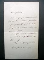 Autografo Pietro Fragiacomo Lettera Venezia 24/10/1919 Pittore Trieste Arte - Autografi