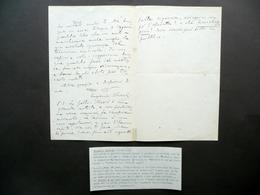 Autografo Eugenio Checchi Lettera Fanfulla Della Domenica Roma 1884 Filippi - Autografi