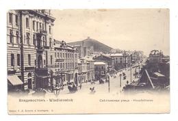 RU 690000 WLADIWOSTOK, Hauptstrasse / Main Street, Kl. Oberrandmängel - Russland