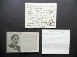 Autografo Giovanni Amendola Cartoncino Camera Dei Deputati Antifascismo Politica - Autografi