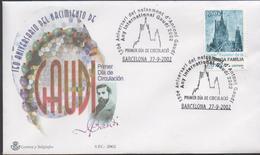3361  Carta Barcelona 2002, 150 Aniversario De Nacimiento  Antonio Gaudi - 1931-Hoy: 2ª República - ... Juan Carlos I