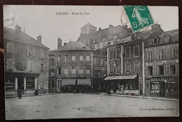 DECIZE (58) Place St Just. Bertin Tailleur, Café Des Colonnes, Etablissement Jay - Decize