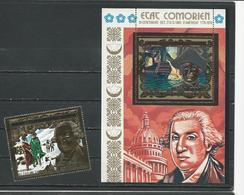 COMORES Scott 171 173 Yvert PA100 ? BF ? (1+bloc) ** Cote 30,00 $ 1976 - Comores (1975-...)