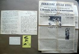 Autografo Generale Pariani Lunga Lettera Malcesine 1949 8 Settembre 1943 WW2 - Autografi