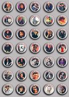 35 X Johnny Hallyday Music Fan ART BADGE BUTTON PIN SET 3 (1inch/25mm Diameter) - Music