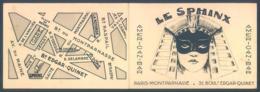 75 PARIS Montparnasse Bd Edgar Quinet LE SPHINX  American Bar  Cabaret Spectacle Publicité - Publicités