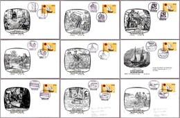 TRANSPORTE DEL CORREO - MAIL TRANSPORT. Set 9 Covers. Lisboa 1980 - Correo Postal