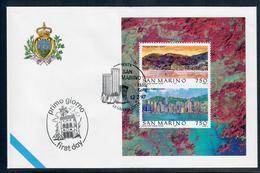 SAN MARINO 1997 - HONG KONG - FOGLIETTO - FDC - FDC