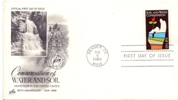 USA CONSERVATION WATERAND SOIL 1984 FDC COVER   (GEN190043) - Archeologia
