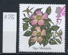 Grande Bretagne - Great Britain - Großbritannien 1991 Y&T N°1555 - Michel N°1349 (o) - 37p Rosa Mutabilis - 1952-.... (Elizabeth II)