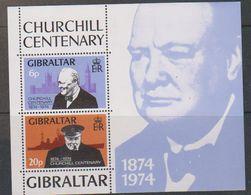 Gibraltar 1974 Churchill  M/s ** Mnh (41616B) - Gibraltar