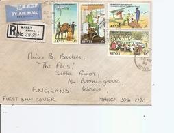 Kenya ( Lettre Recommandée Par Avion De 1980 De Karen Vers La Grande-Bretagne à Voir) - Kenia (1963-...)