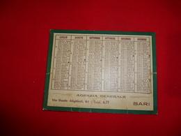 Calendarietto Società Cattolica Assicurazione 1931 Sede Verona Agenzia BARI Puglia - Formato Piccolo : 1921-40