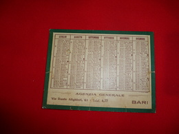 Calendarietto Società Cattolica Assicurazione 1931 Sede Verona Agenzia BARI Puglia - Calendari