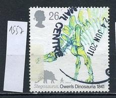 Grande Bretagne - Great Britain - Großbritannien 1991 Y&T N°1557 - Michel N°1351 (o) - 26p Stégosaure - 1952-.... (Elizabeth II)