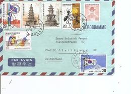 Corée Du Sud ( Lettre Par Avion De 1978 De Daegu Vers La Suisse à Voir) - Korea (Süd-)