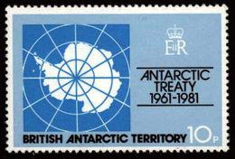 British Antarctic BAT 1992 **MNH Antarctic Treaty Map Antarktisvertrag Karte Traité Sur L'Antarctique, Carte - Events & Commemorations