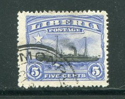 LIBERIA- Y&T N°99- Oblitéré (bateau) - Liberia