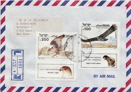 Postal History: Israel R Cover - Eagles & Birds Of Prey