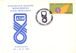 POLAND ASW CONFERENCE SCIENTIFIC 1977 COVER  (GEN190044) - FDC