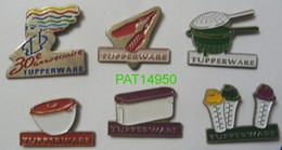 TUPPERWARE LES BOITES En PLASTIQUE  Lot De 6 Pin's Différents - Marcas Registradas
