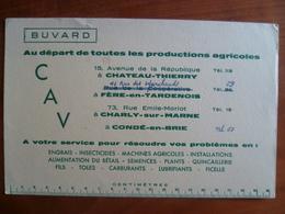 Buvard Au Départ De Toutes Les Productions Agricoles Château-Thierry, Fère En Tardenois, Charly Sur Marne, Condé En Brie - Buvards, Protège-cahiers Illustrés