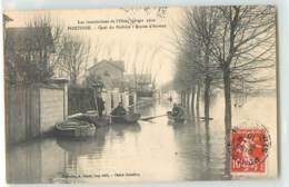 30057 - PONTOISE - LES INONDATIONS DE L OISE JANVIER 1910 / QUAI DU POTHUIS / ROUTE D AUVERS - Pontoise